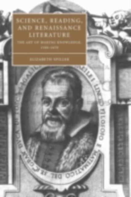 Science, Reading, and Renaissance Literature al...
