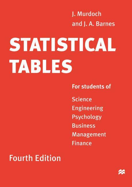 Statistical Tables als Buch
