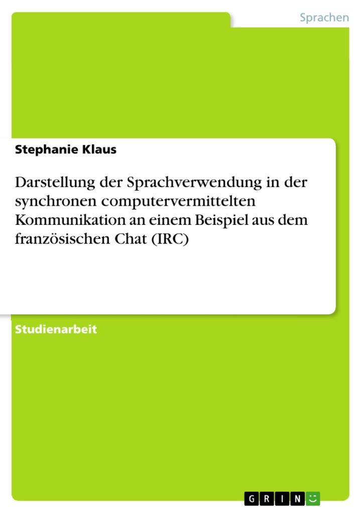Darstellung der Sprachverwendung in der synchro...