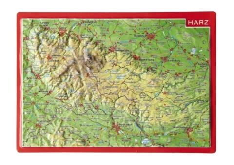 Reliefpostkarte Harz