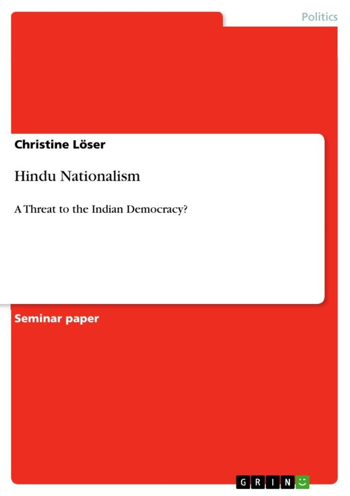 Hindu Nationalism als eBook Download von Christ...