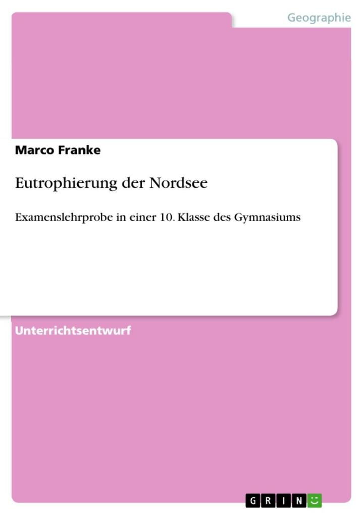 Eutrophierung der Nordsee als eBook Download von Marco Franke - Marco Franke