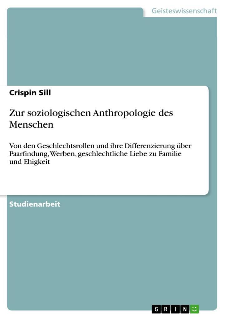 Zur soziologischen Anthropologie des Menschen a...