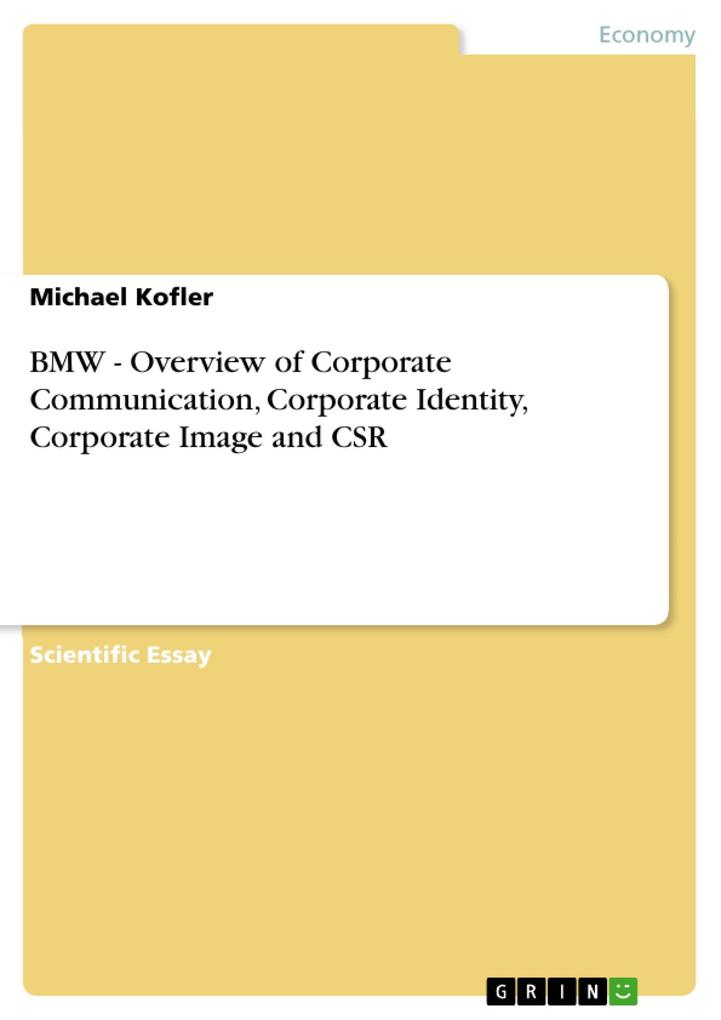 BMW - Overview of Corporate Communication, Corp...