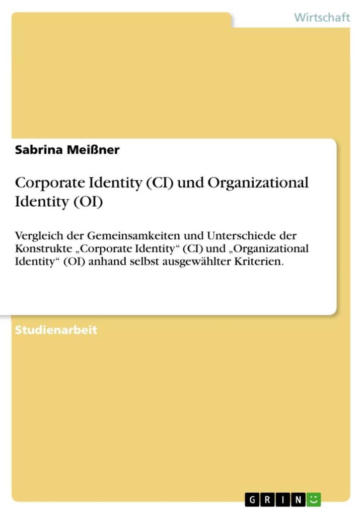 Corporate Identity (CI) und Organizational Iden...
