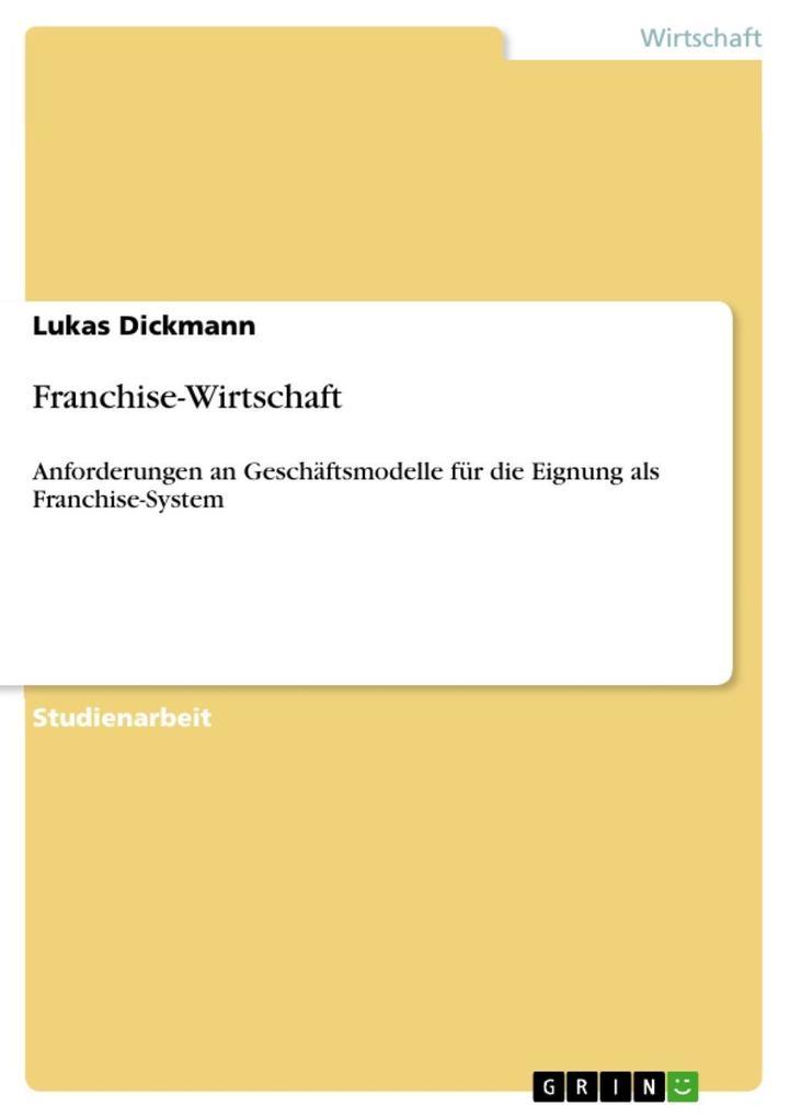 Franchise-Wirtschaft als eBook Download von Luk...