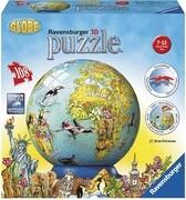 Kindererde in deutscher Sprache. 3D Puzzle-Ball 108 Teile