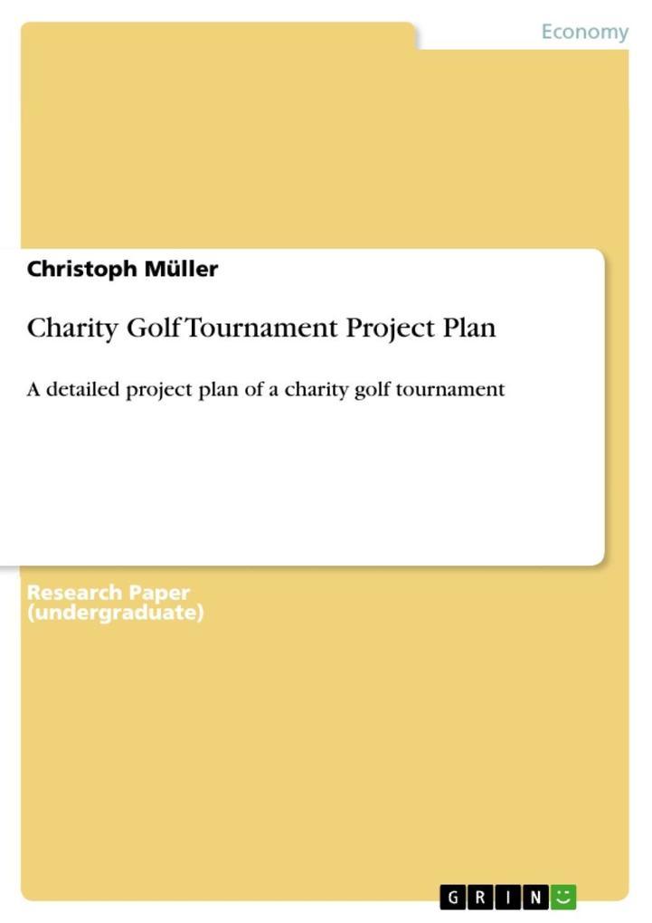 Charity Golf Tournament Project Plan als eBook ...