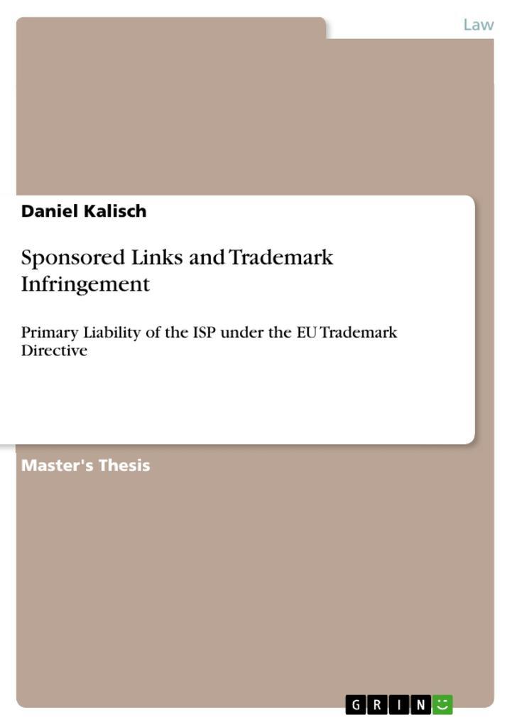 Sponsored Links and Trademark Infringement als eBook pdf