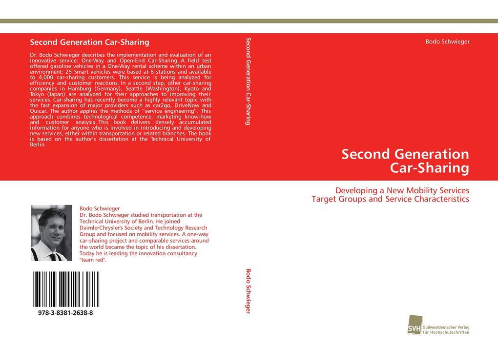 Second Generation Car-Sharing als Buch von Bodo...