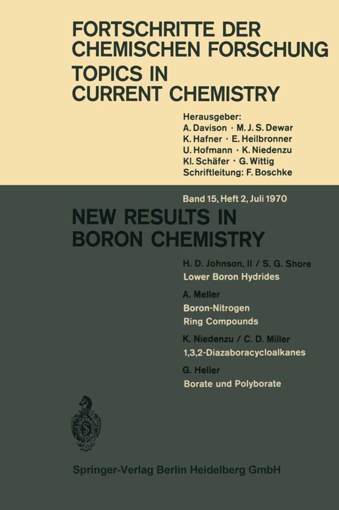 New Results in Boron Chemistry als Buch (kartoniert)