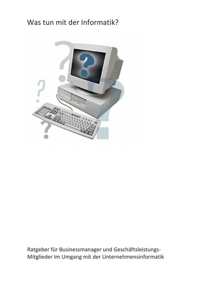 Was tun mit der Informatik? als eBook Download ...