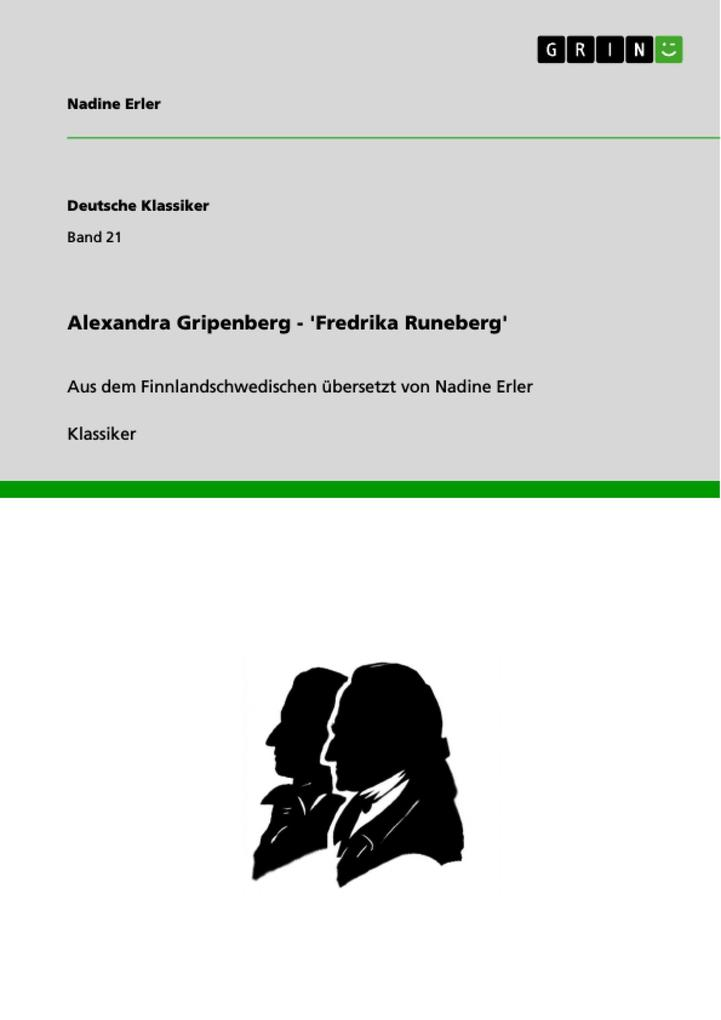 Alexandra Gripenberg - 'Fredrika Runeberg' als eBook