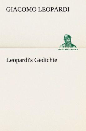 Leopardi´s Gedichte als Buch von Giacomo Leopardi