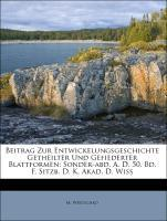 Beitrag Zur Entwickelungsgeschichte Getheilter ...