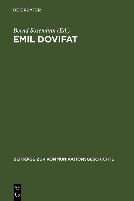 Emil Dovifat als eBook Download von