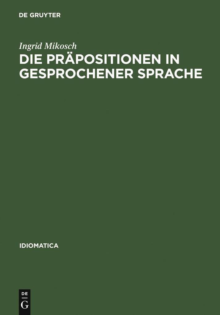 Die Präpositionen in gesprochener Sprache als e...