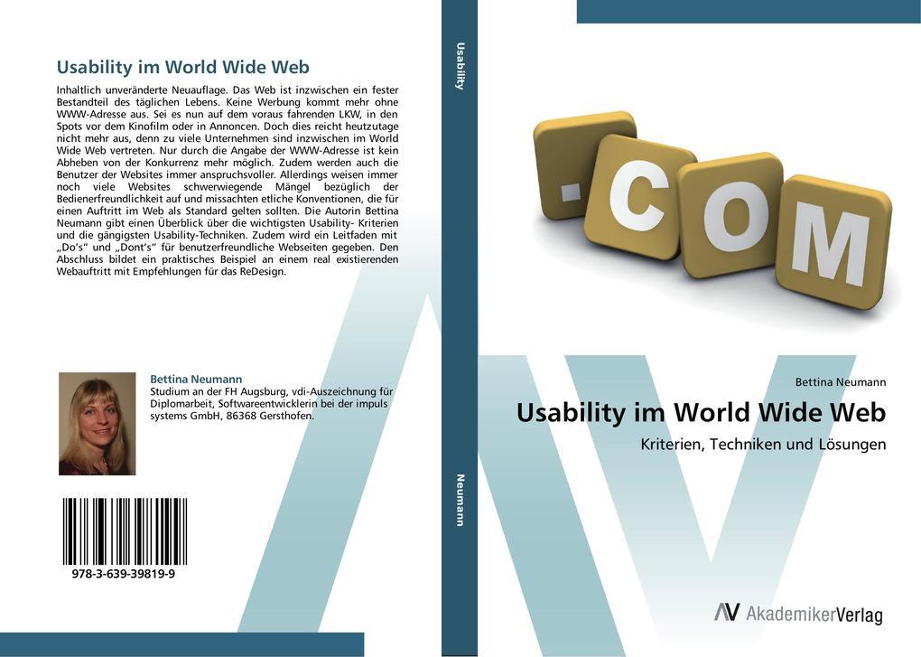 Usability im World Wide Web als Buch von Bettin...