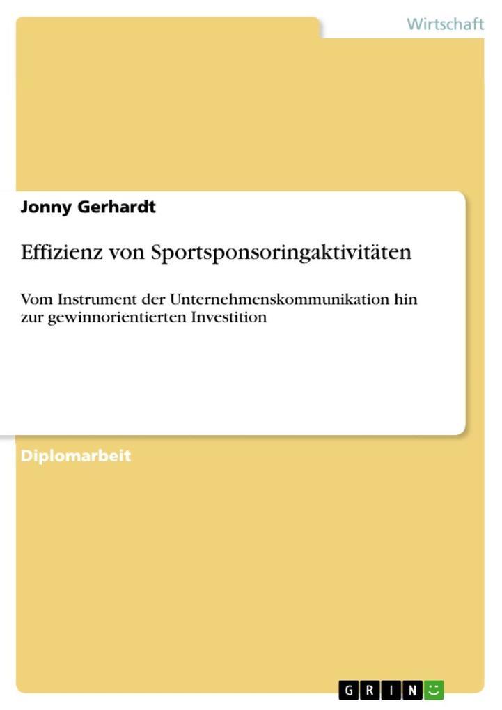 Effizienz von Sportsponsoringaktivitäten als eB...