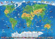 Kinder Weltkarte XXL/1,35 Meter
