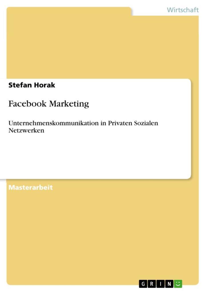 Facebook Marketing als eBook Download von Stefa...