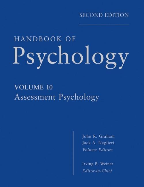 Handbook of Psychology 10 als Buch von Irving B...