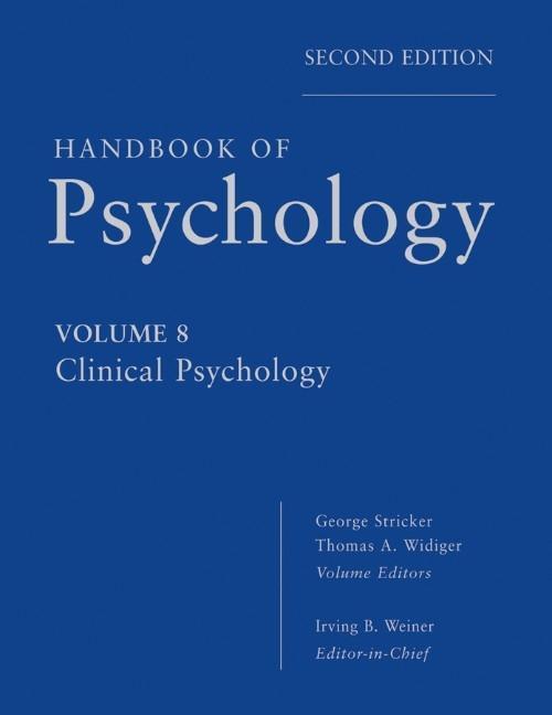 Handbook of Psychology 08 als Buch von Irving B...