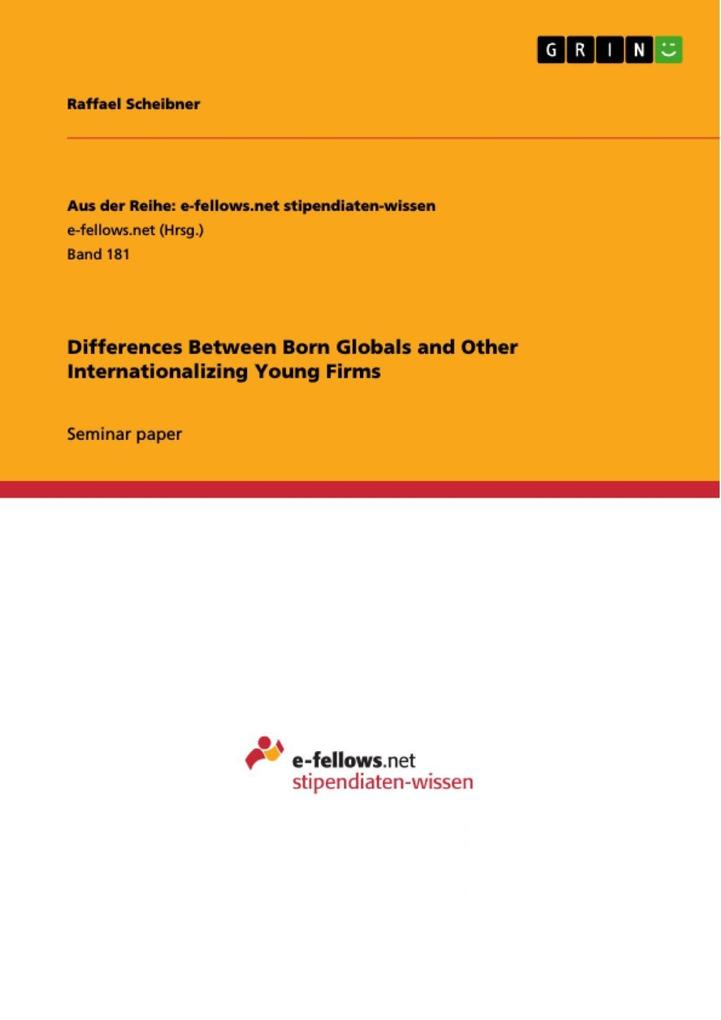 Differences Between Born Globals and Other Inte...