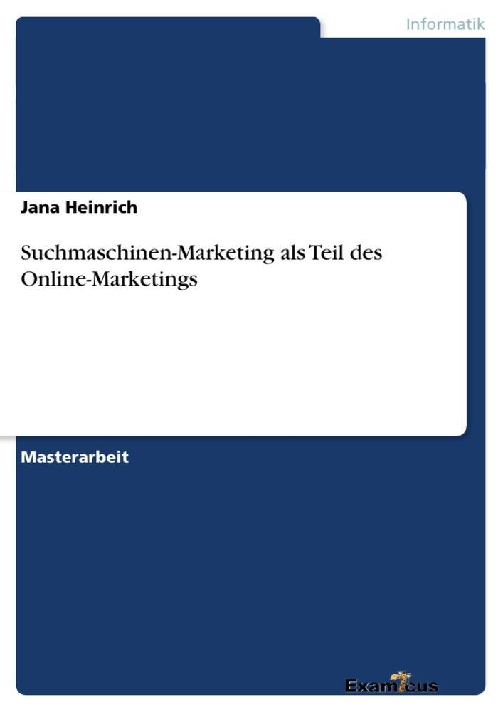 Suchmaschinen-Marketing als Teil des Online-Mar...