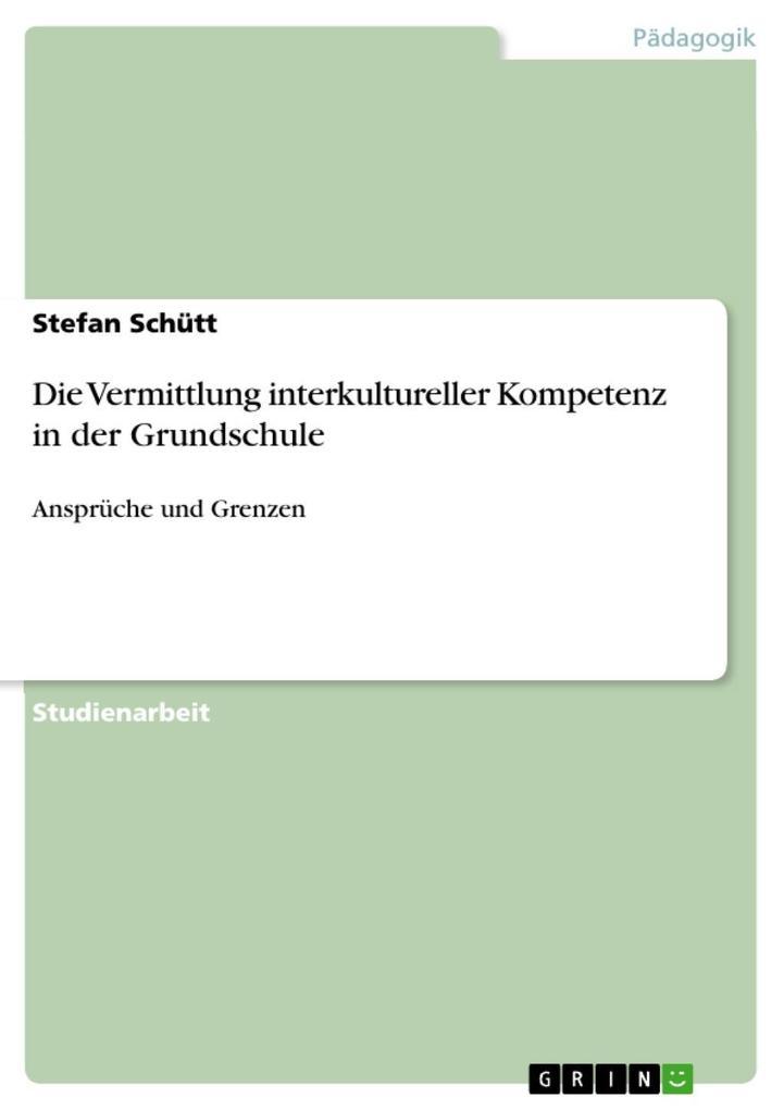Die Vermittlung interkultureller Kompetenz in d...
