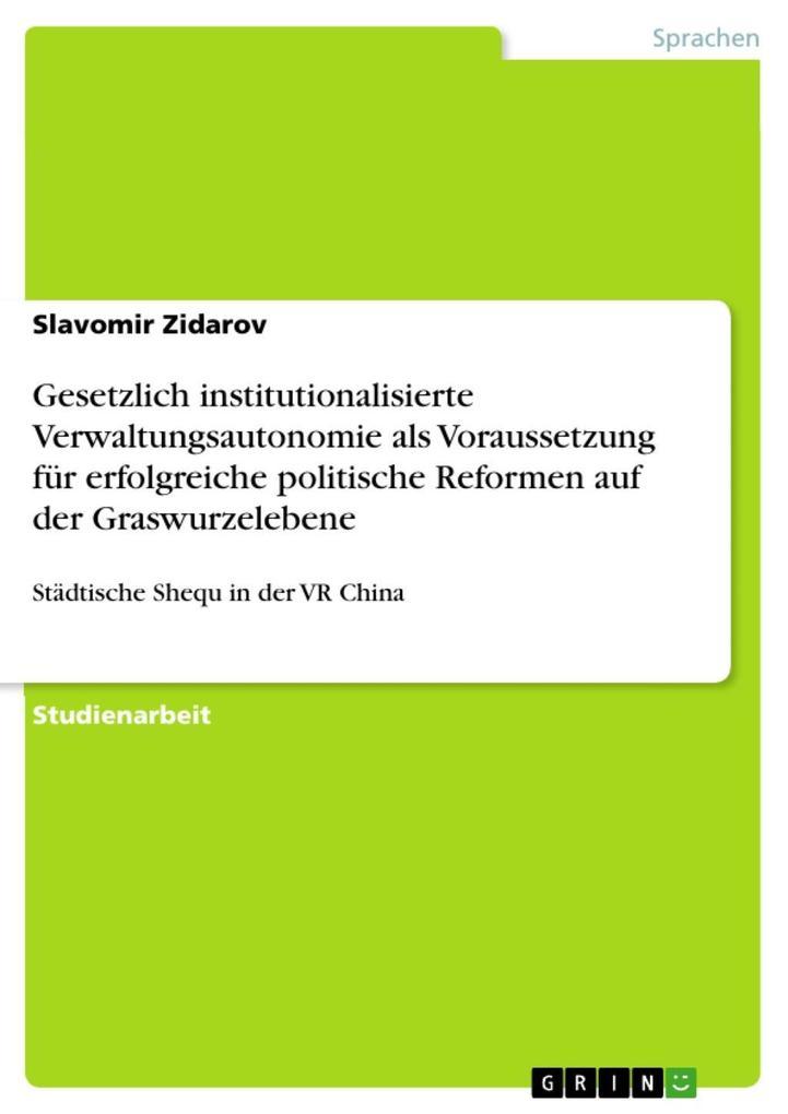Gesetzlich institutionalisierte Verwaltungsauto...