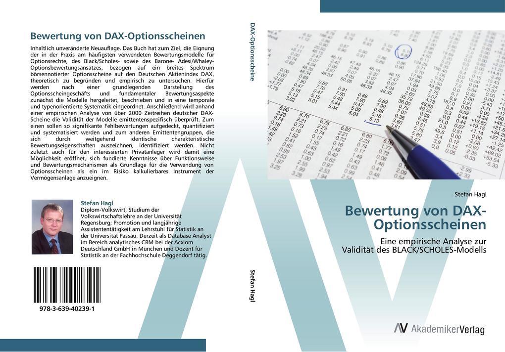 Bewertung von DAX-Optionsscheinen als Buch von ...