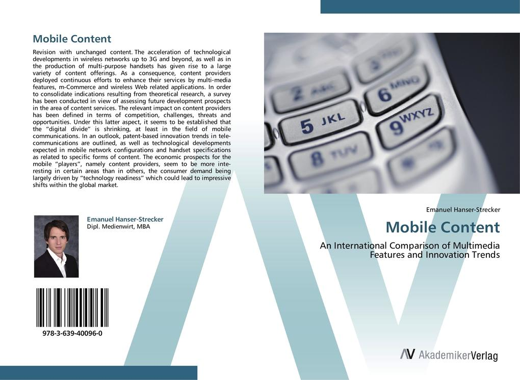 Mobile Content als Buch von Emanuel Hanser-Stre...
