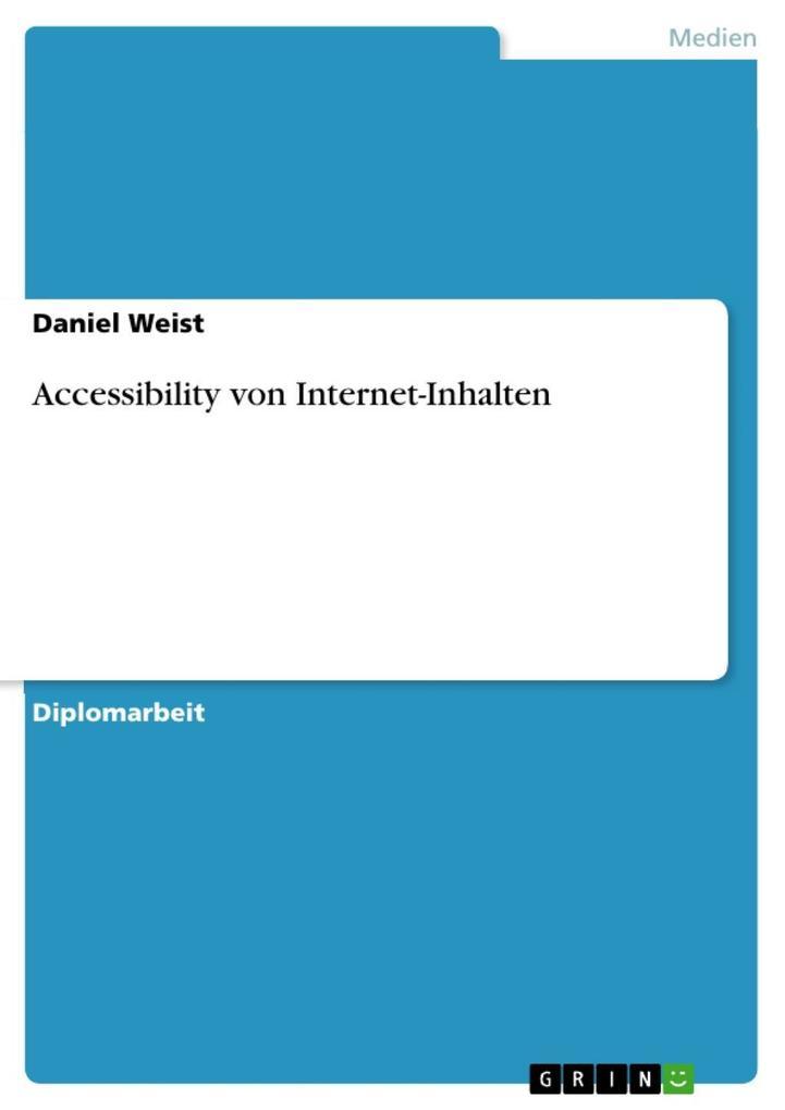 Accessibility von Internet-Inhalten als eBook D...
