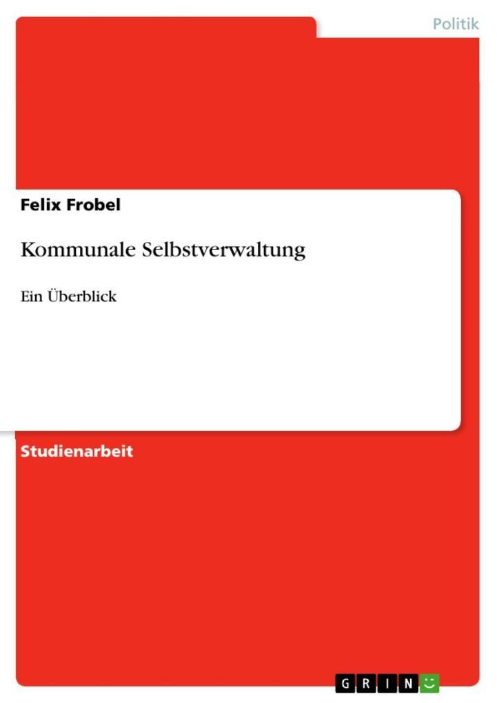 Kommunale Selbstverwaltung als eBook Download v...