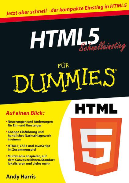 HTML5 Schnelleinstieg für Dummies als Buch von ...