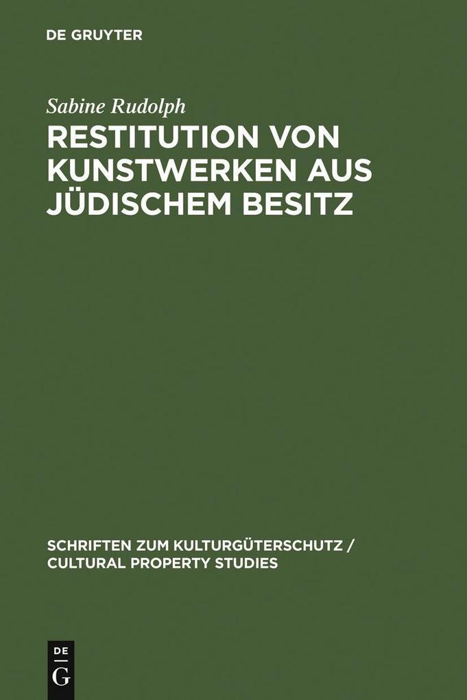 Restitution von Kunstwerken aus jüdischem Besit...