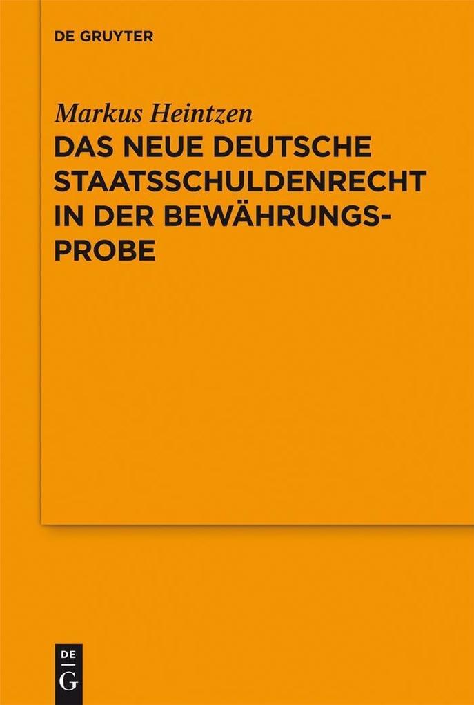Das neue deutsche Staatsschuldenrecht in der Be...