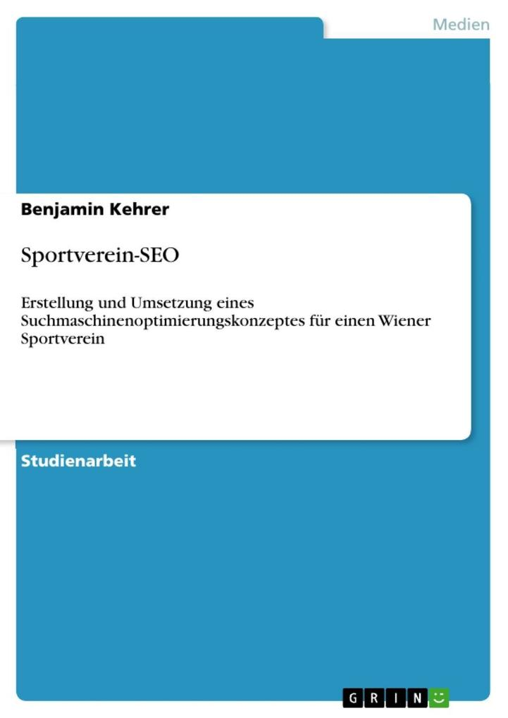 Sportverein-SEO als eBook Download von Benjamin...