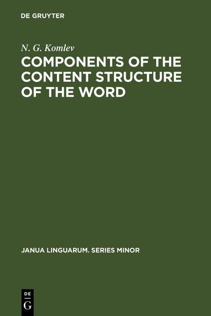 Components of the Content Structure of the Word...