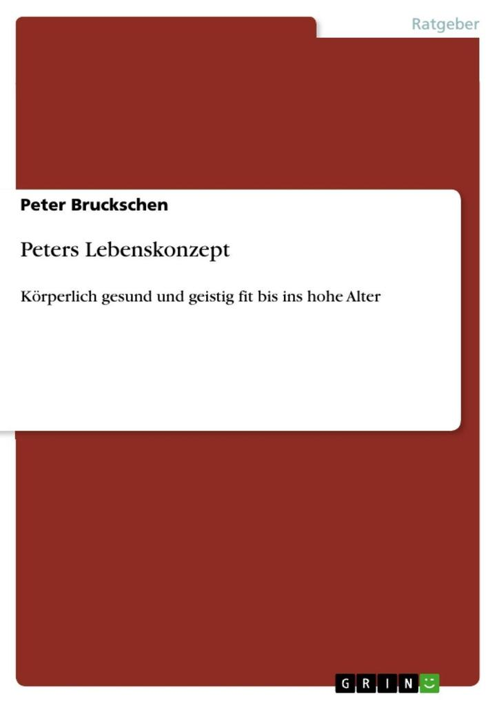Peters Lebenskonzept als eBook Download von Pet...