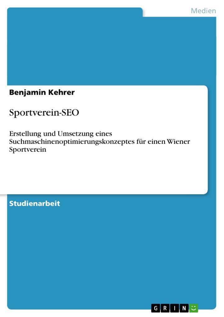 Sportverein-SEO als Buch von Benjamin Kehrer