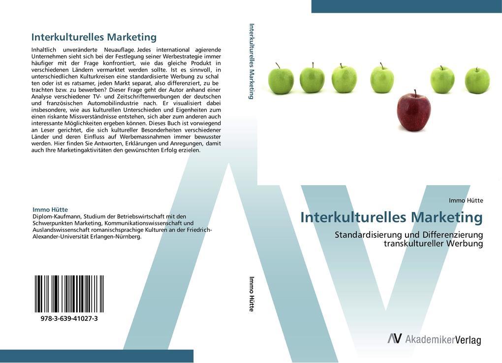Interkulturelles Marketing als Buch von Immo Hütte