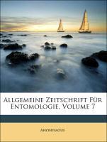 Allgemeine Zeitschrift Für Entomologie, Volume ...