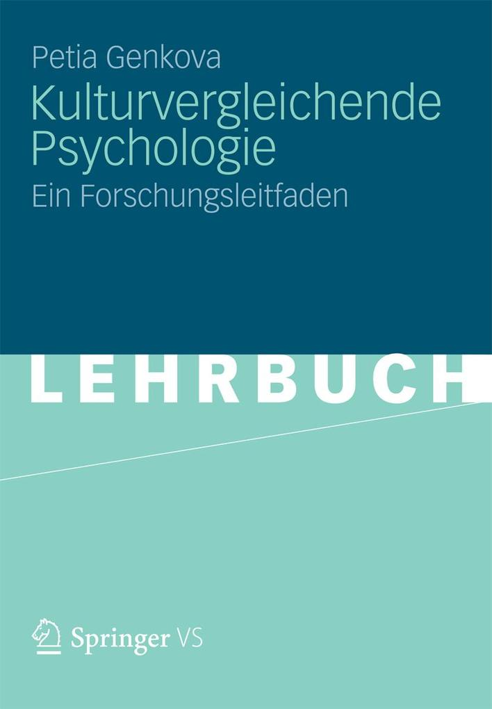 Kulturvergleichende Psychologie als eBook Downl...
