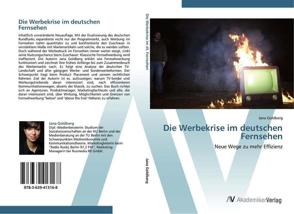 Die Werbekrise im deutschen Fernsehen als Buch (kartoniert)