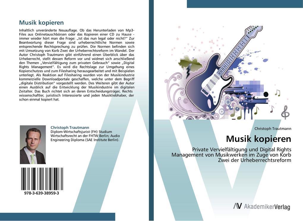 Musik kopieren als Buch von Christoph Trautmann