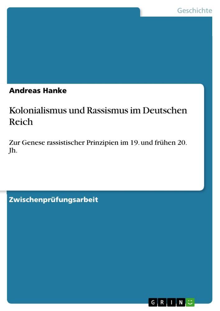 Kolonialismus und Rassismus im Deutschen Reich ...