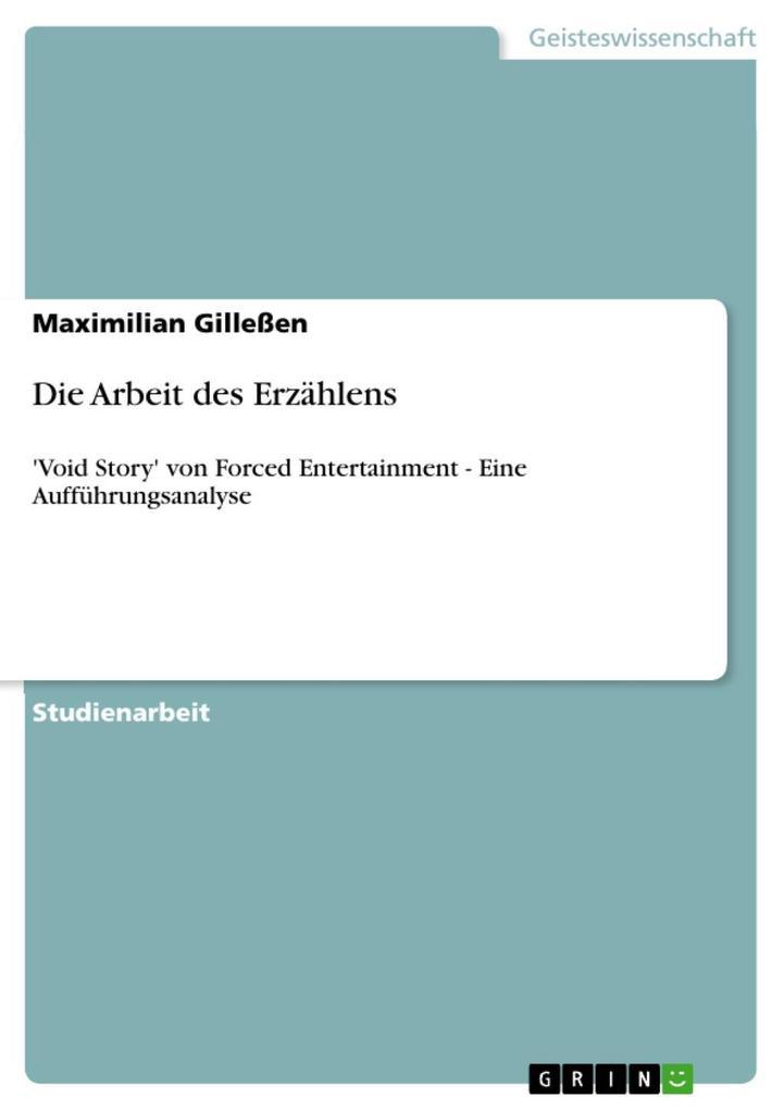 Die Arbeit des Erzählens als eBook Download von...