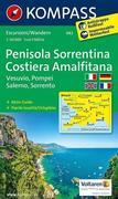 Halbinsel Sorrent /Penisola Sorrentina - Costiera Amalfitana - Vesuvio - Pompei - Salerno - Sorrento 1 : 50 000